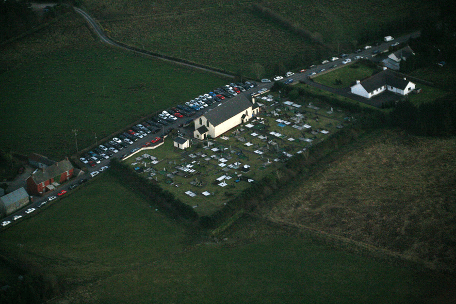 St. Patrick's Church Aerial Shot