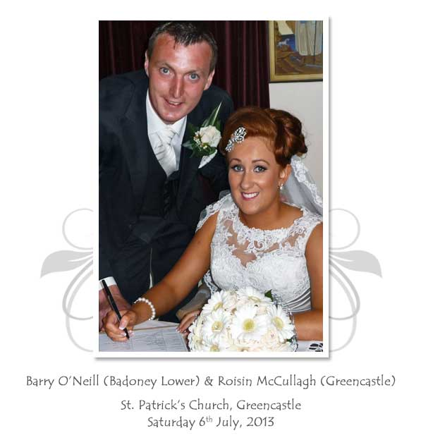 Barry and Roisin O'Neill