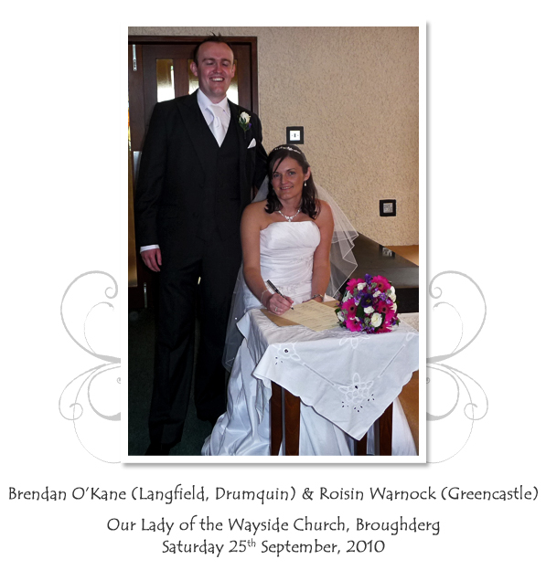 Brendan and Roisin O'Kane