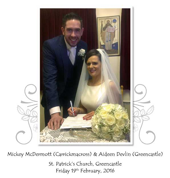 Mickey and Aideen McDermott